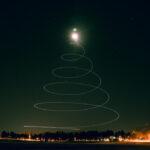 christmas tree drone light painting