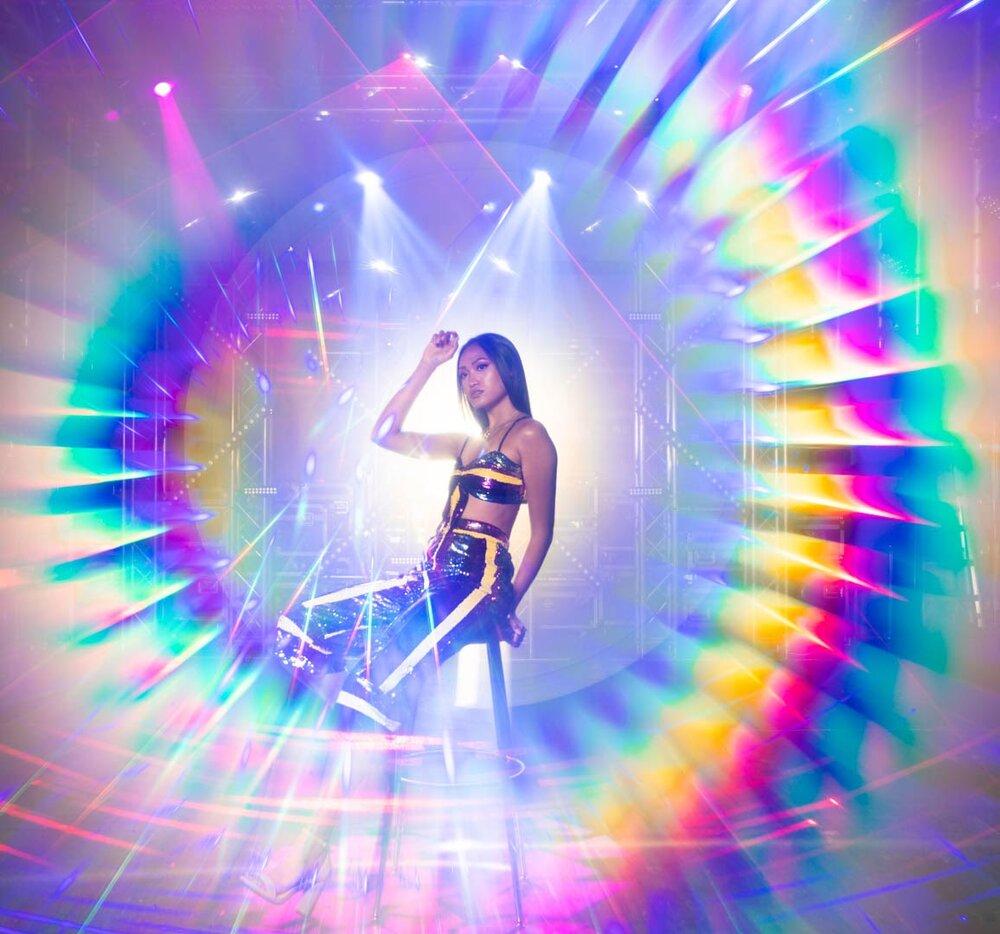prism light painting tube rainbow