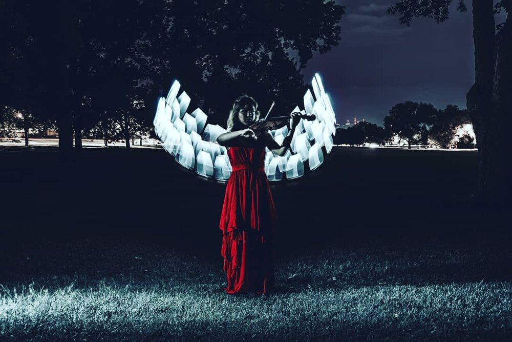 basic light painting wings