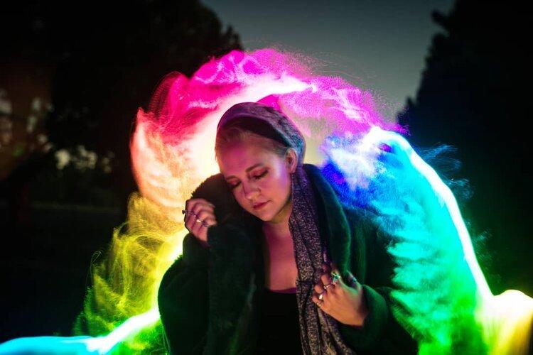 color shine fiber optic brush light painting