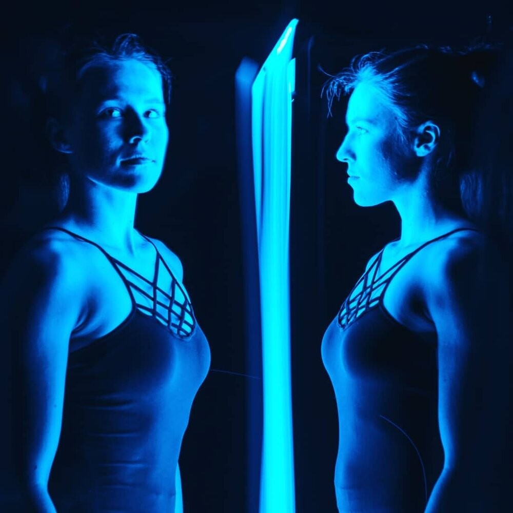 double exposure light painting
