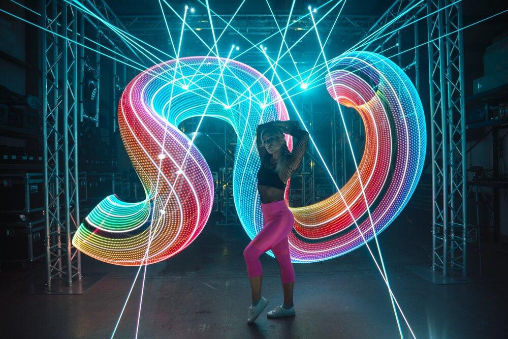 led hoop light painting