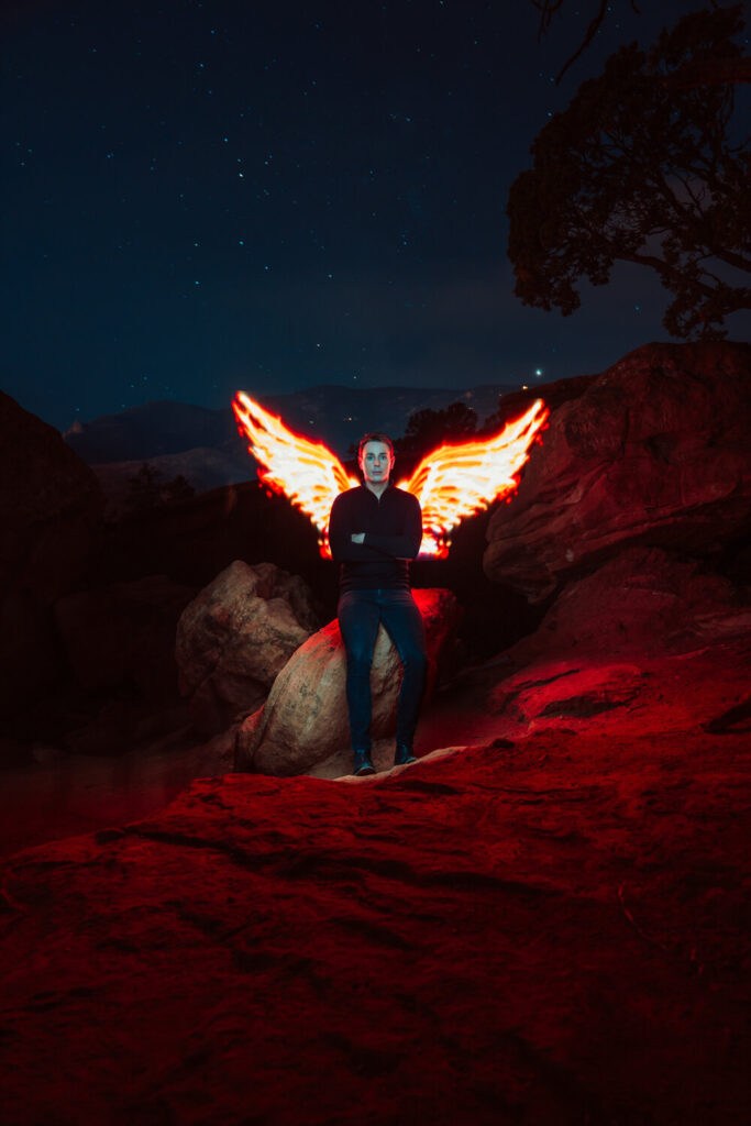 magilight fire wings light painting